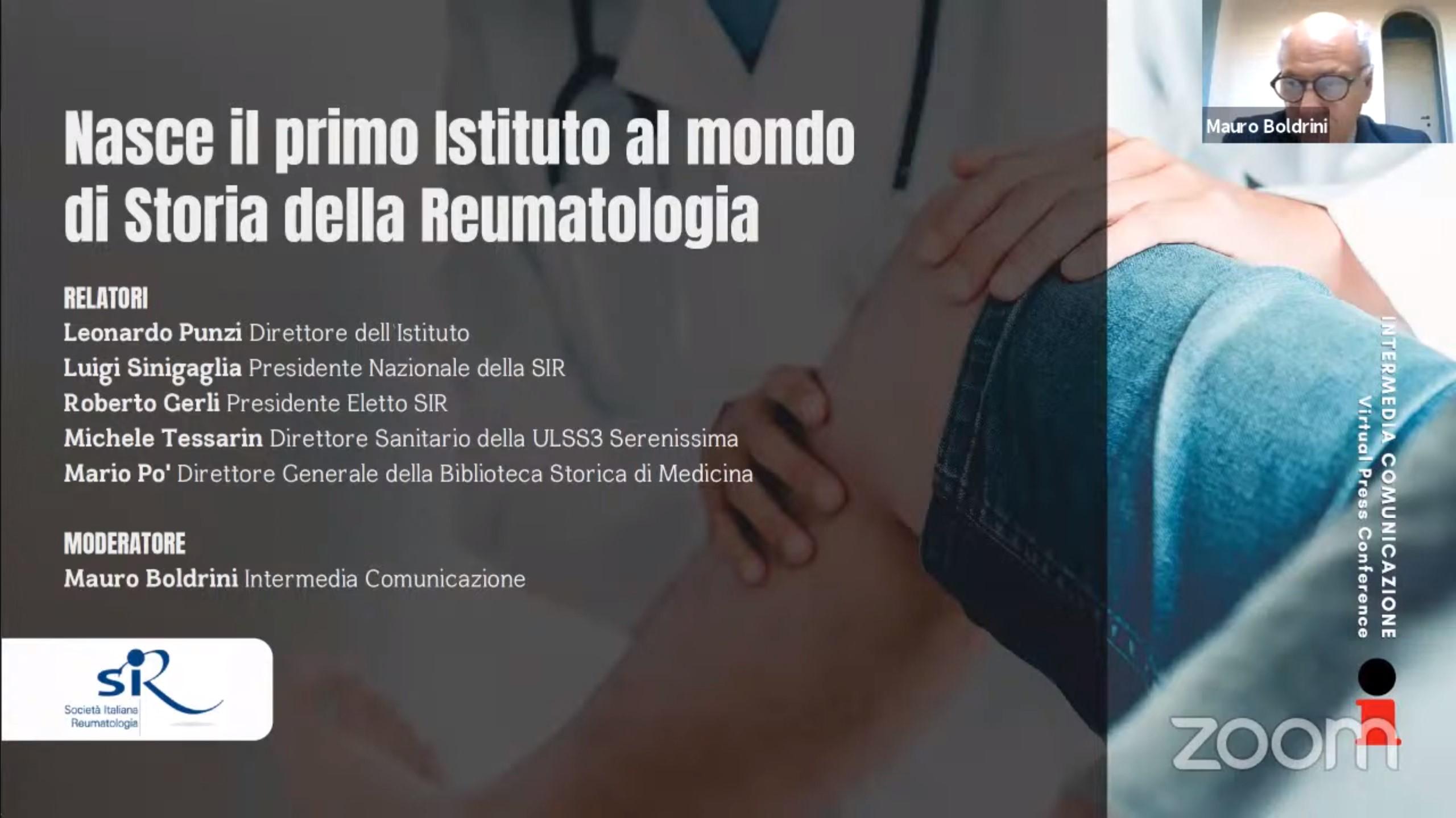 Nasce il primo istituto al mondo di Storia della Reumatologia