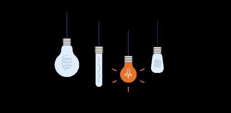lightbulbs twinkling icon