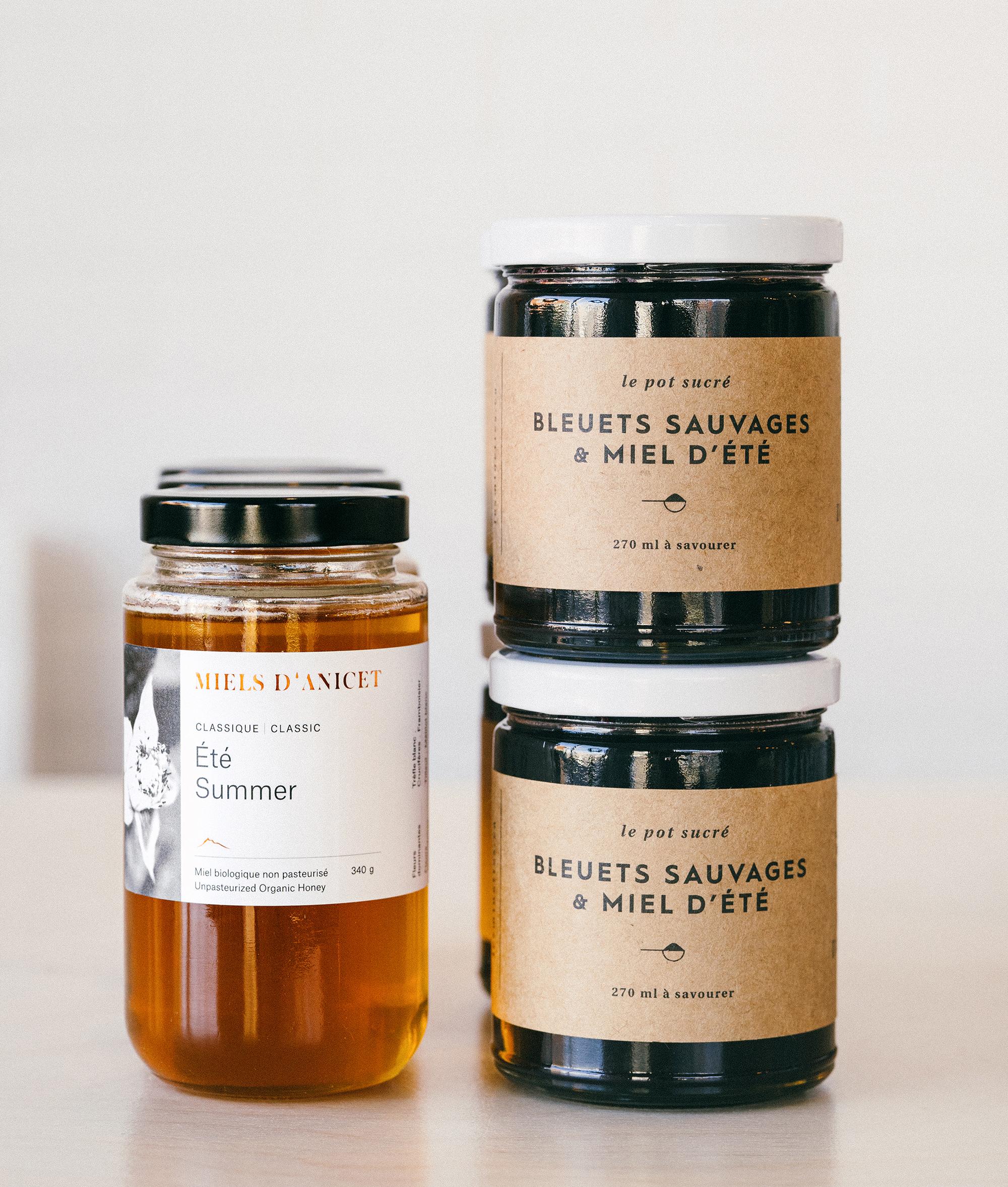 Les minettes, confitures, miel