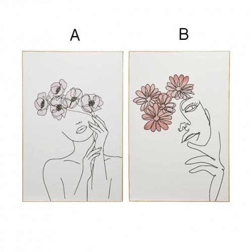 Tableau femme line art, 35,5'' de Décors Véronneau Laval
