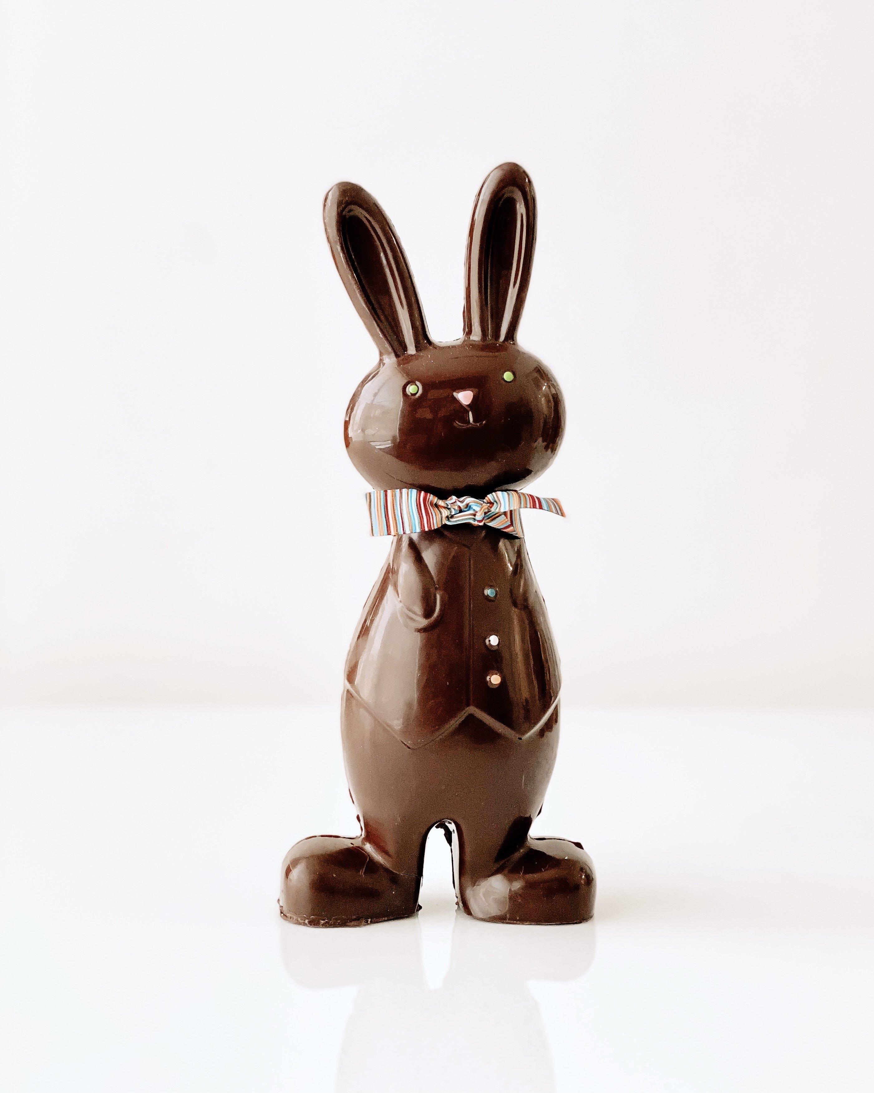 Lapin en chocolat Le papa Lilio de Les Minettes | Boutique gourmande