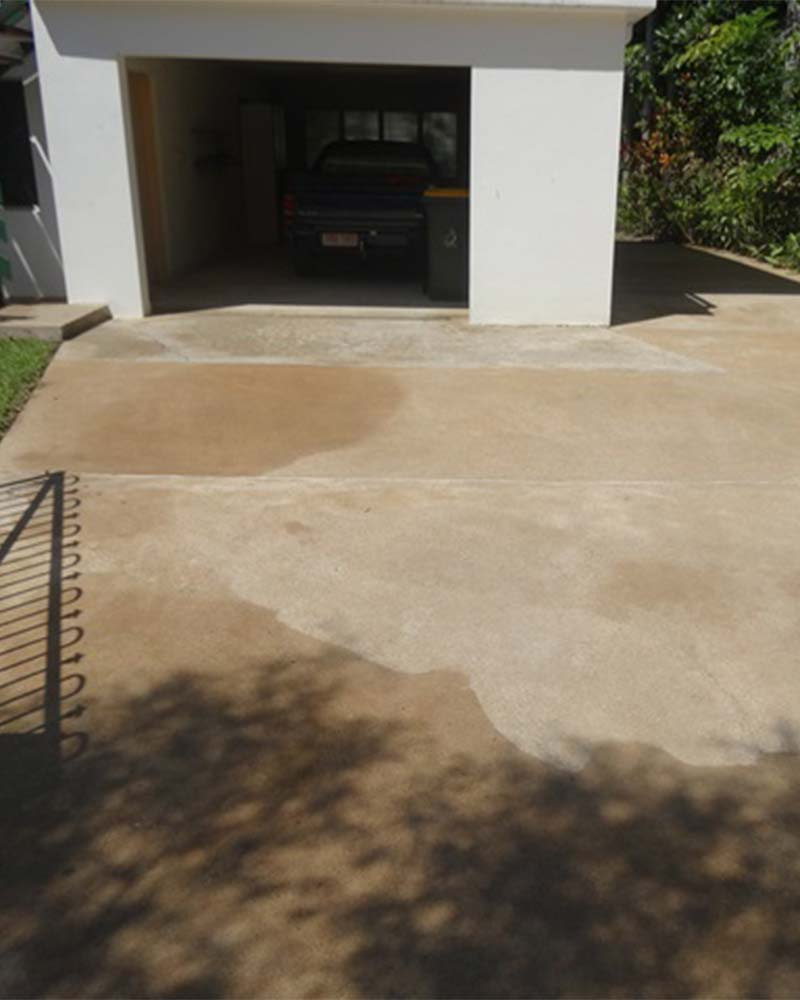 Driveway cleaning project after