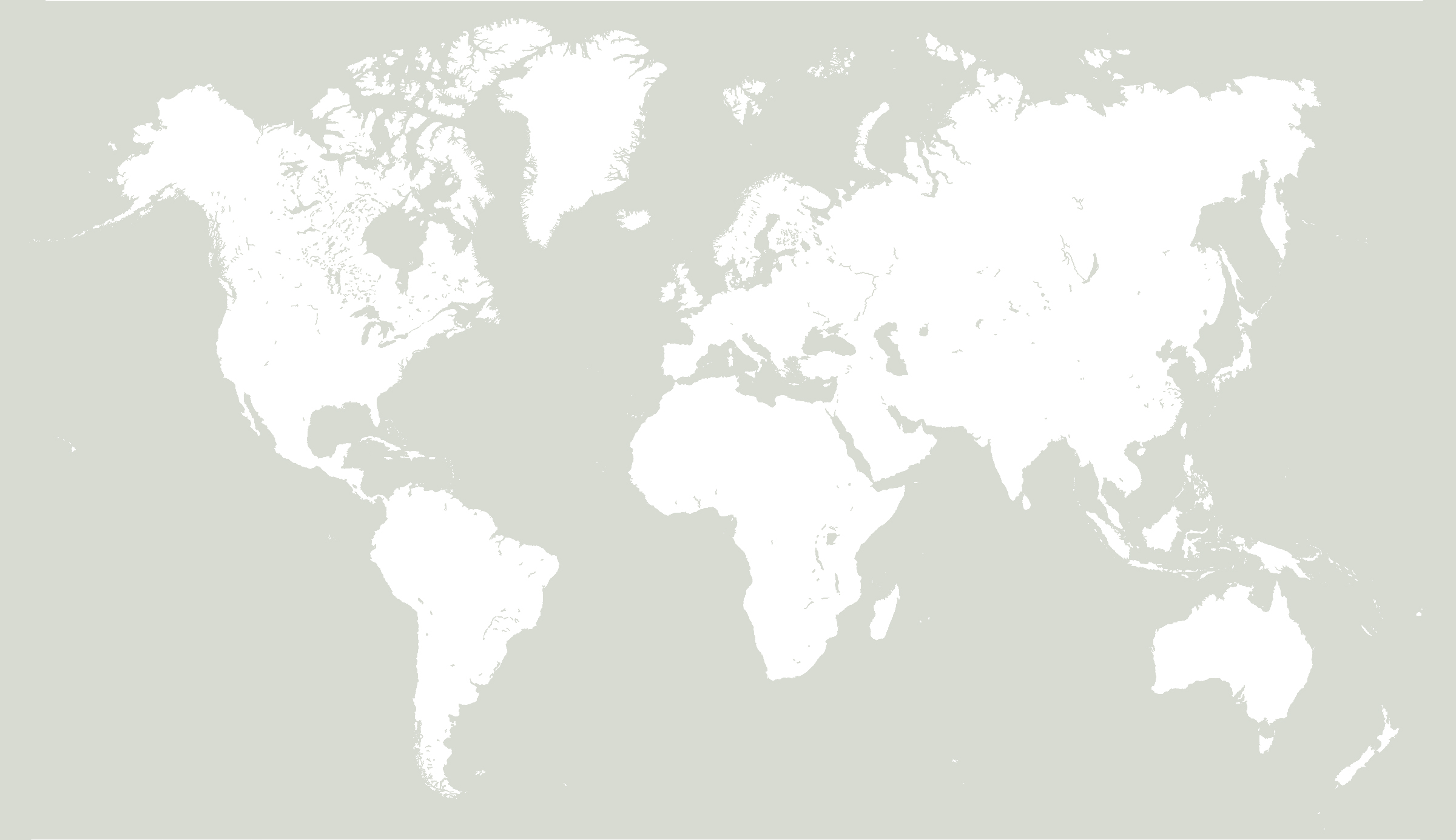 World Map - Ayurvedic Consultations provided remotely, worldwide.