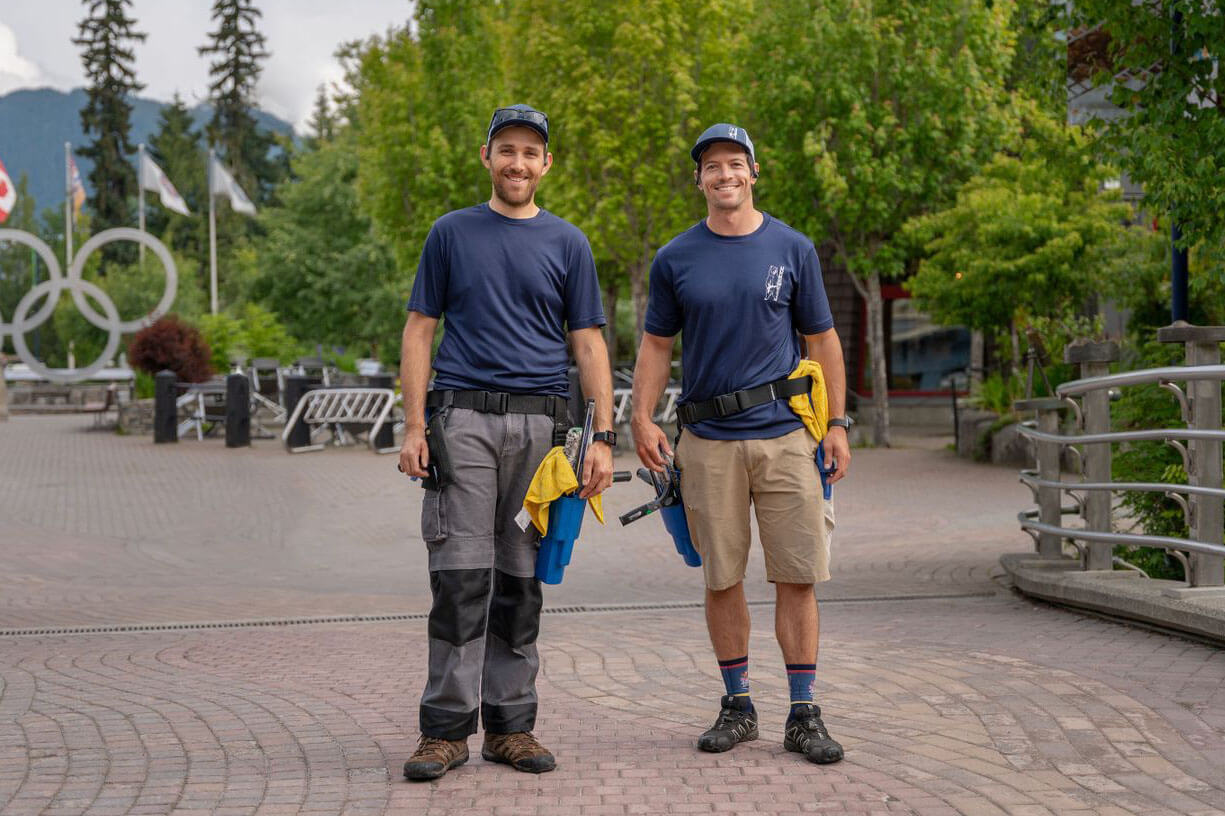 Owners of 99 Cleaning Solutions Olivier and Kelvin in Qualicum Beach, BC