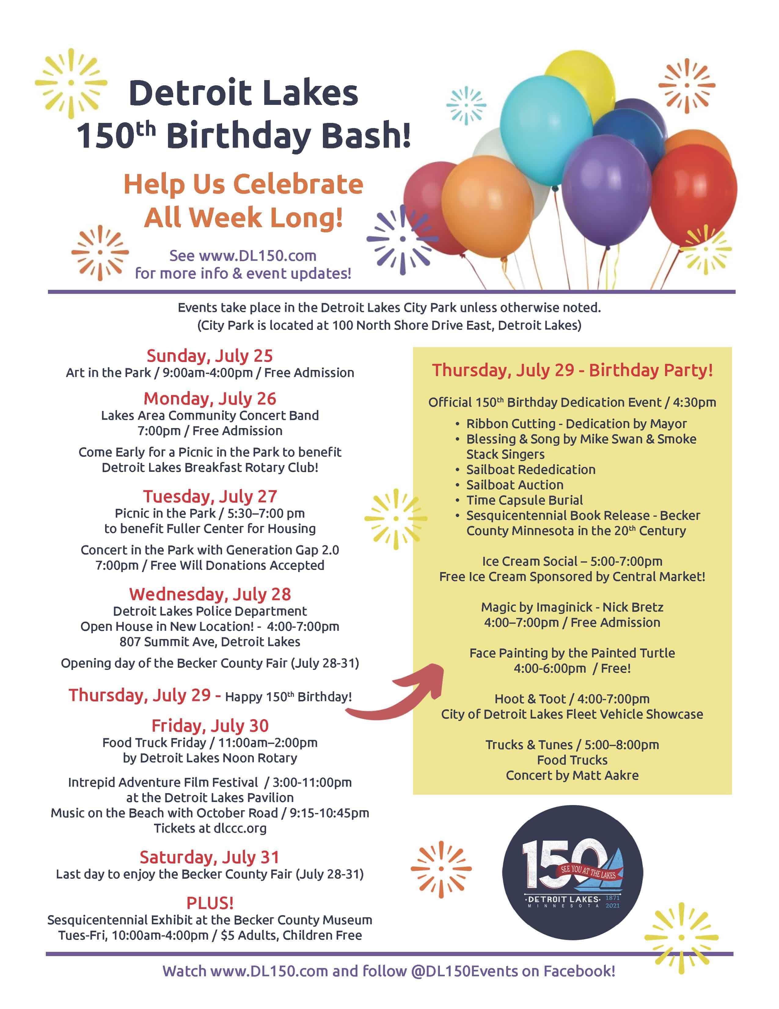 Detroit Lakes Birthday Bash Final Flyer [07-07-21]