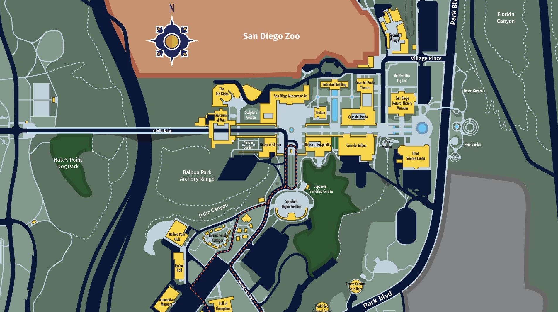Map of Balboa Park