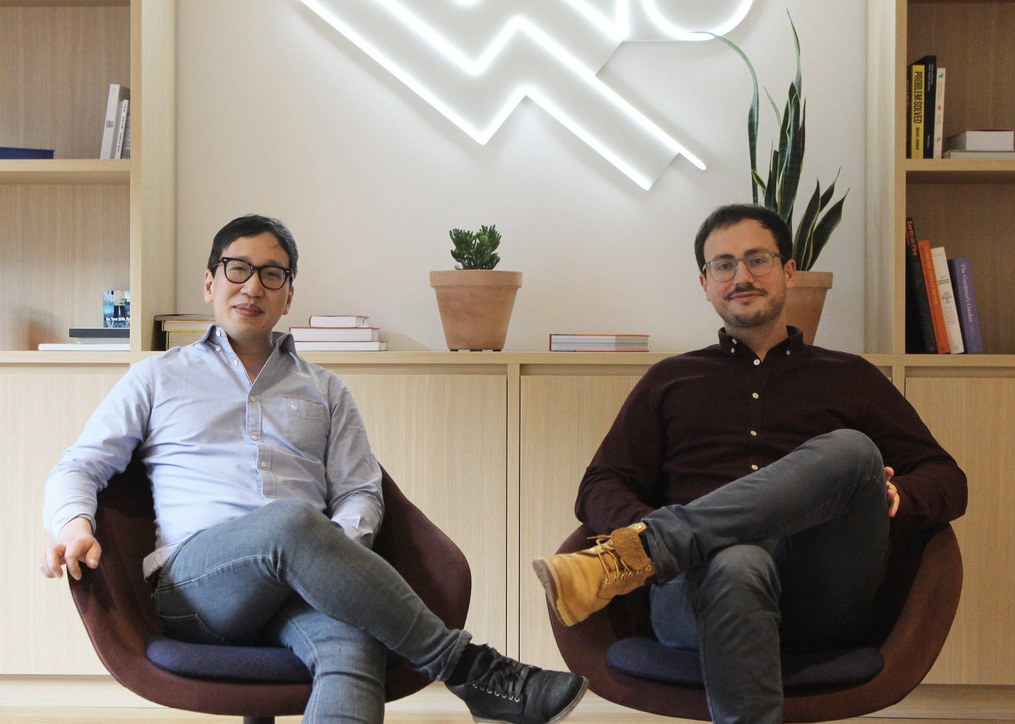 The two co-founders of Blobr