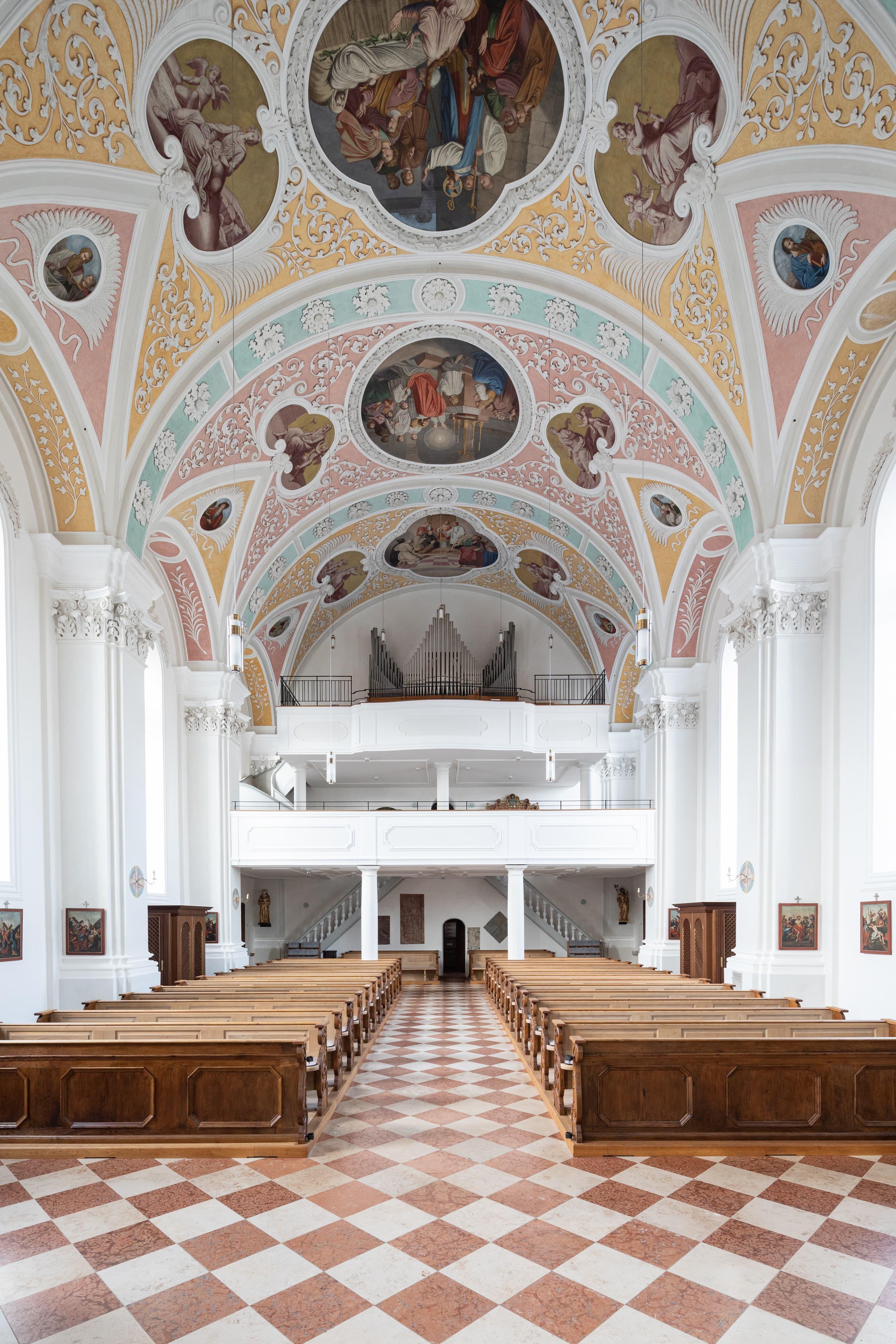 Kirche St. Martin Au Kirchenschiff