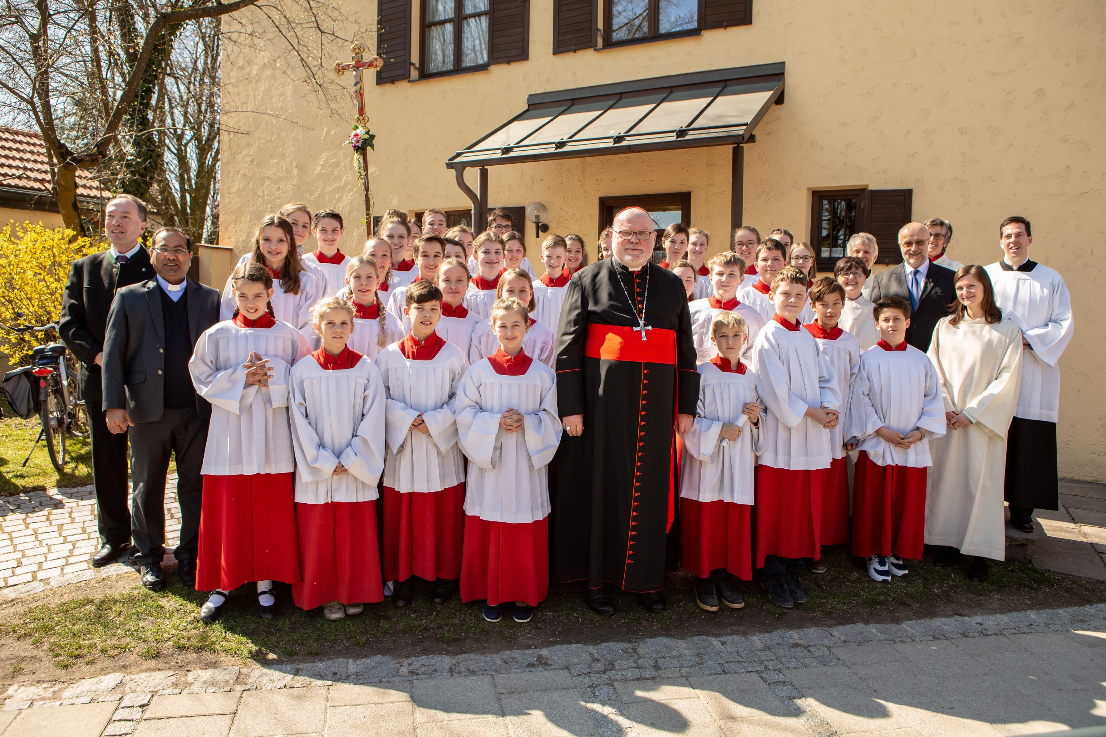 Pfarrkirche Mariä Himmelfahrt Bad Aibling Gruppenfoto