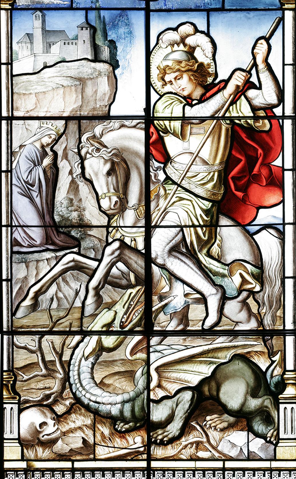 Pfarrkirche St. Georg Eggstätt Ausschnitt Fenster