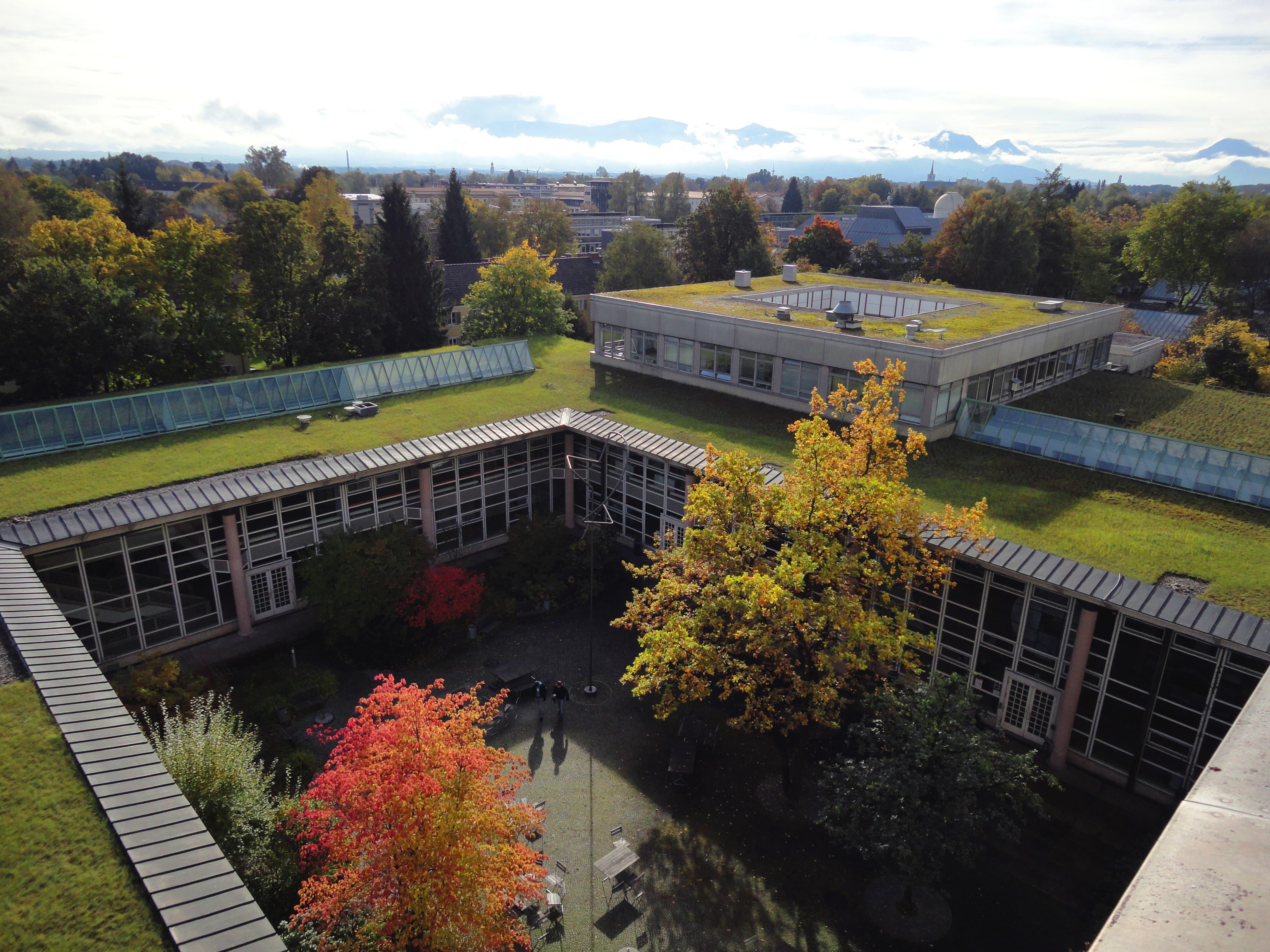 Technische Hochschule Rosenheim Bau B und C von oben