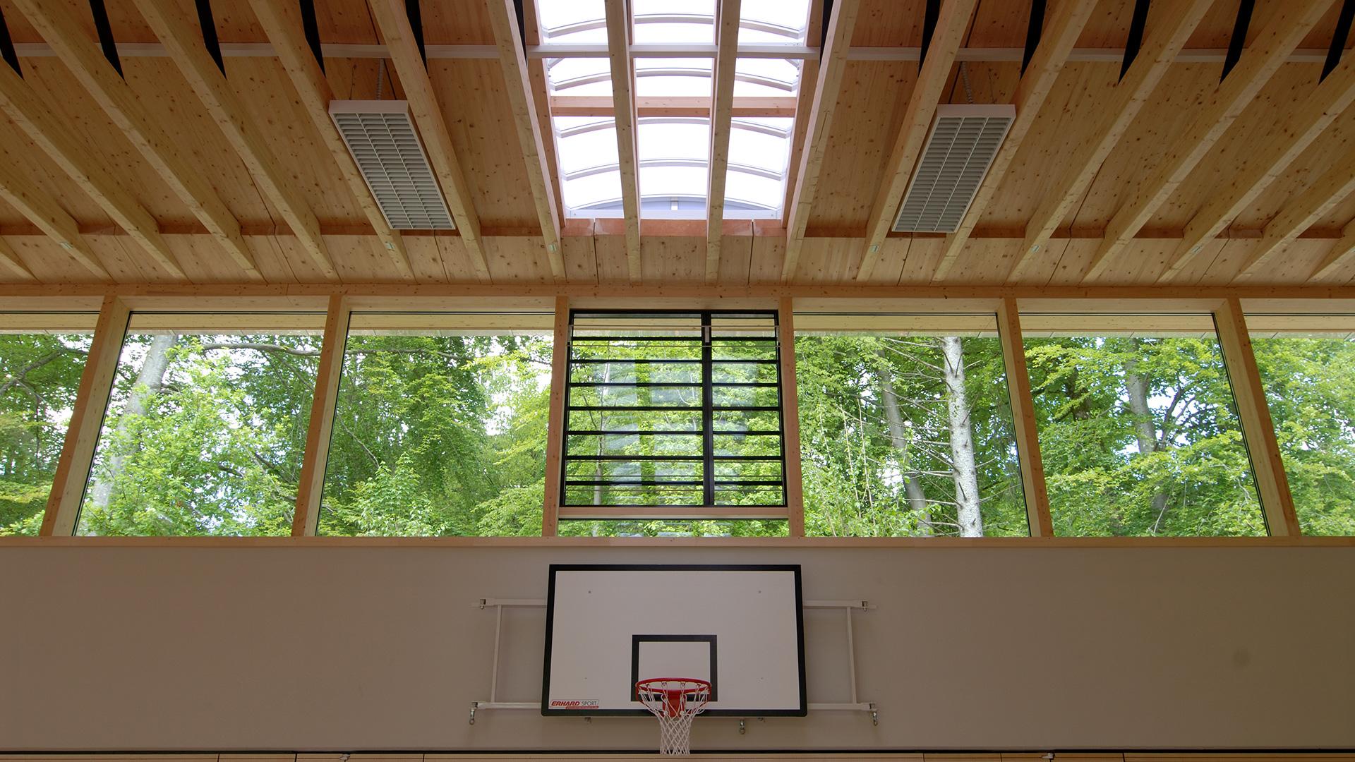 Sporthalle Icking Basketballkorb