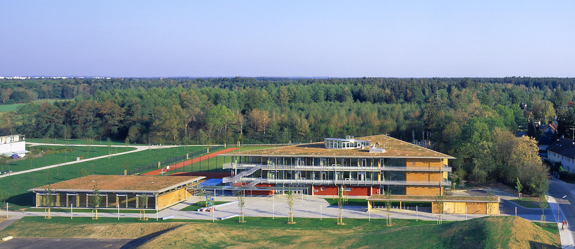 Sporthalle Trudering Luftaufnahme