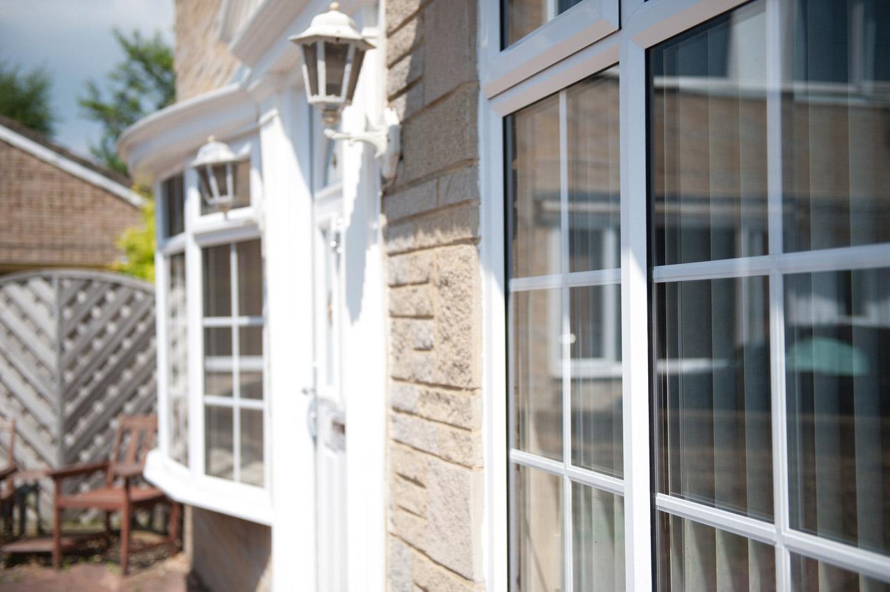pvcu chamfered windows
