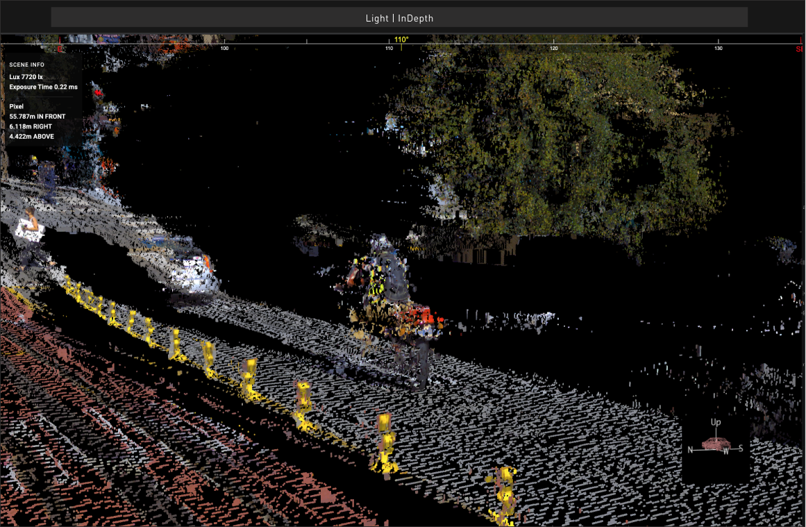 User interface of Light's depth mapping software
