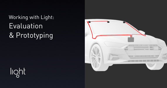 Working with light. Example of car with sensors