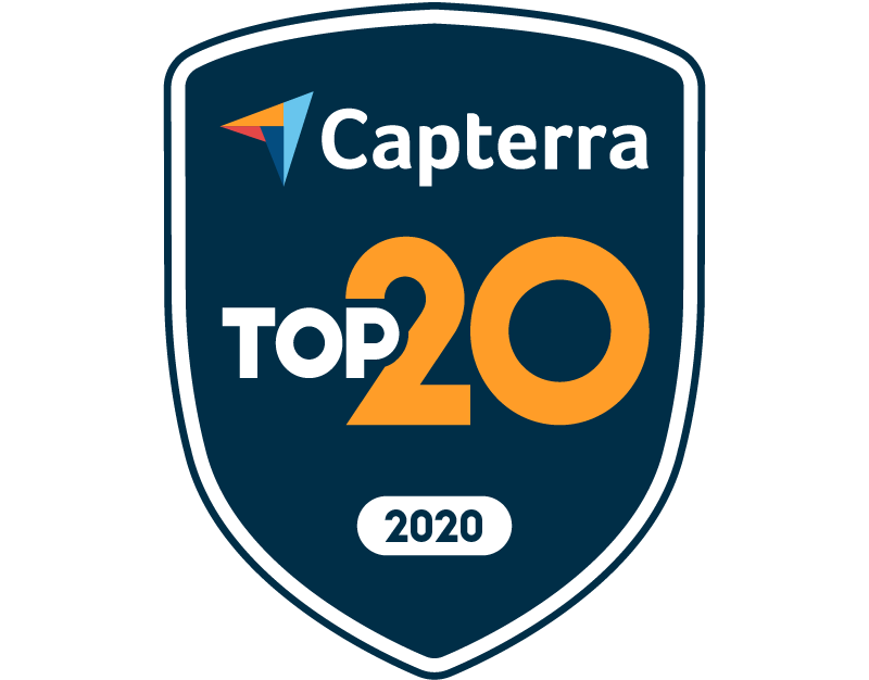 Capterra Top 20 2020 badge