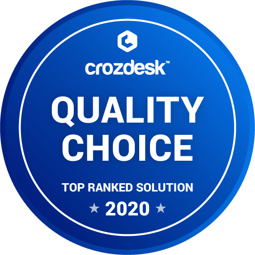 Crozdesk Quality Choice 2020 badge