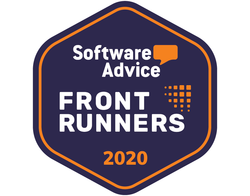 Software Advice Front Runners 2020 badge