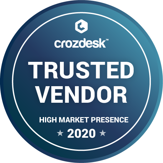 Crozdesk Trusted Vendor 2020 badge