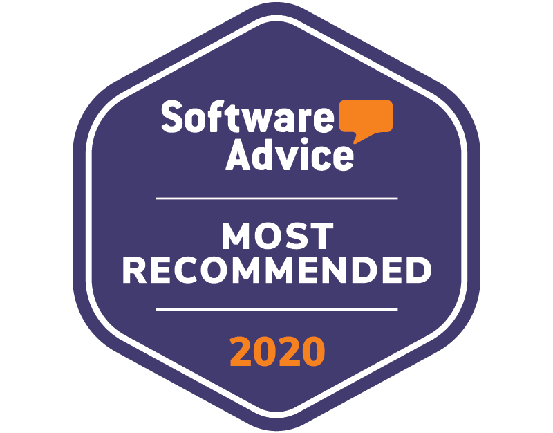 Software Advice Most Recommended 2020 badge