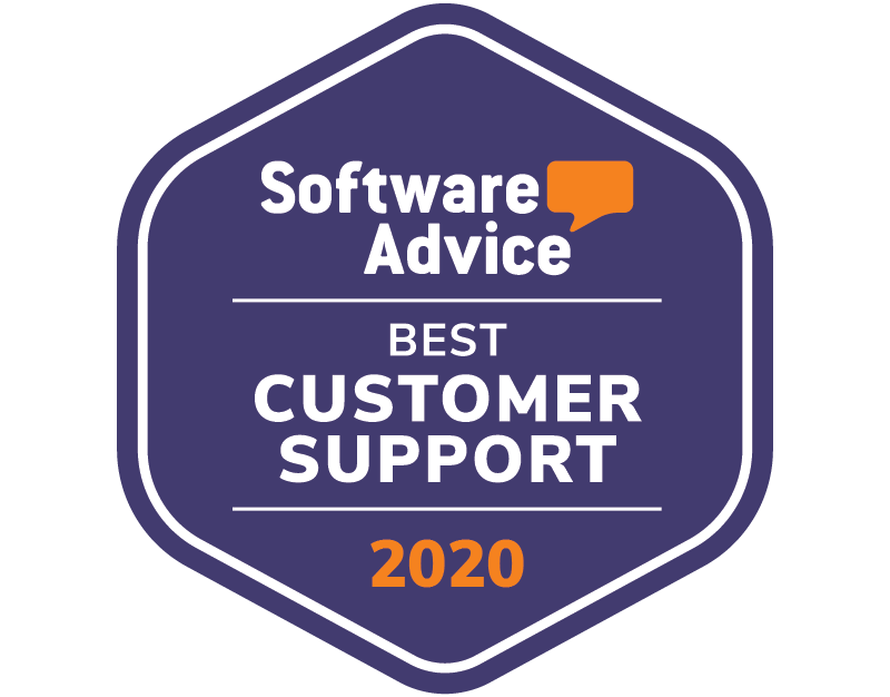 Software Advice - Best customer support award