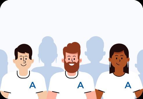 Illustration of Anedot team members