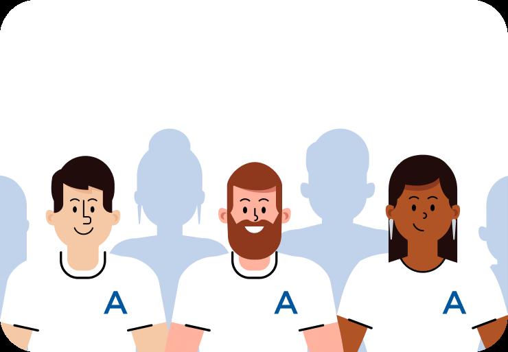 Illustration of Anedot employees