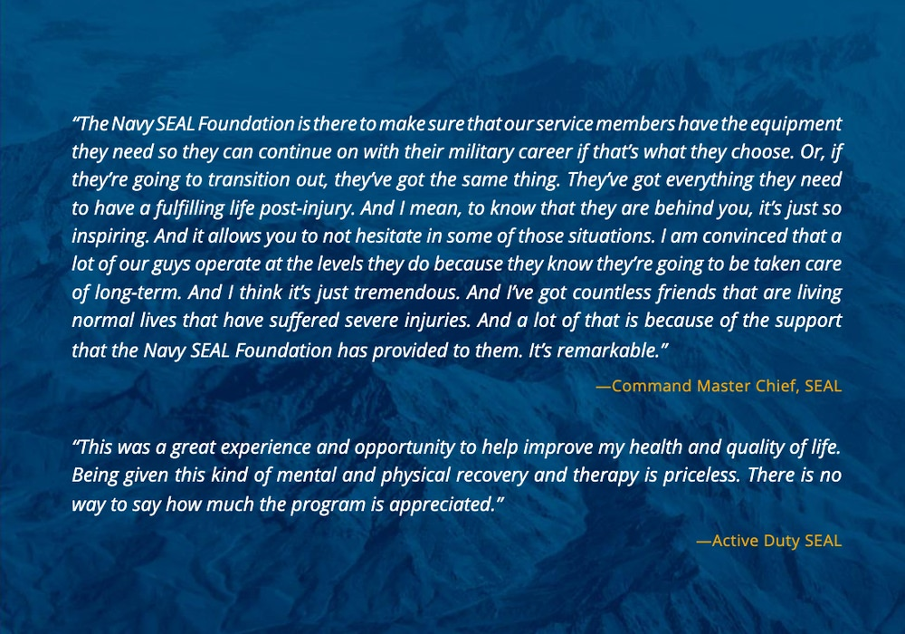 The Navy Seal Foundation uses social proof in their annual report
