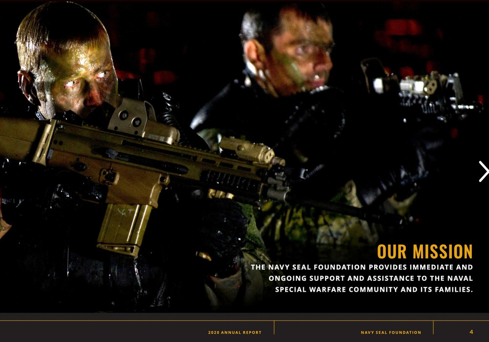 The Navy Seal Foundation communicates their mission in their annual report