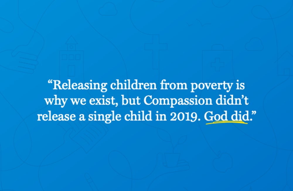 Compassion International clearly communicates their mission in their annual report