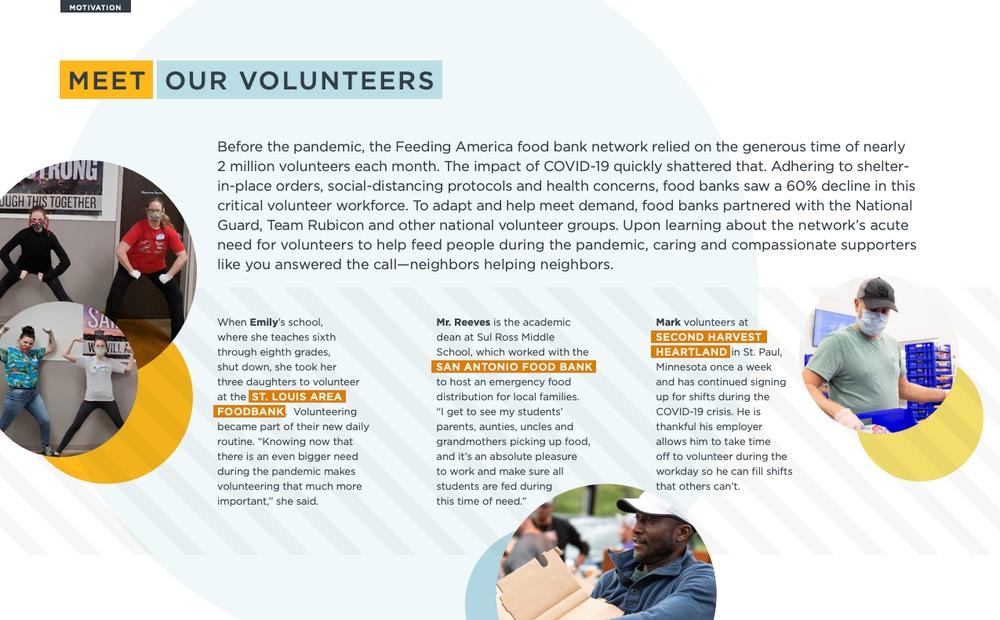 Feeding America celebrates volunteers in their annual report