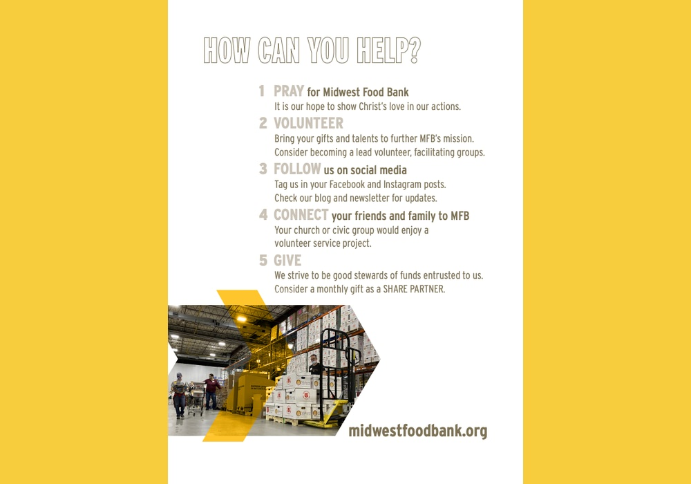 Midwest Food Bank uses calls to action in their annual report