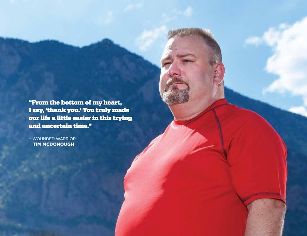 Wounded Warrior Project uses social proof in their annual report