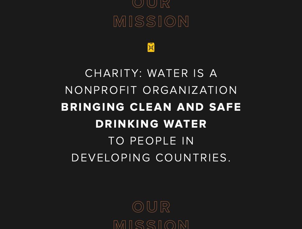 Charity Water clearly communites their mission in their annual report
