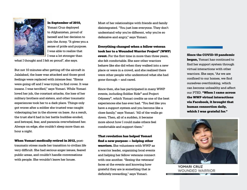 Wounded Warrior Project tells good stories in their annual report