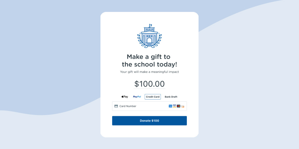 Raise money for your school with Anedot donation forms
