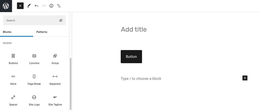 Add a button block to your WordPress page