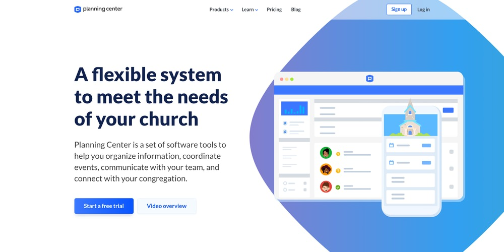 Planning Center Church Software