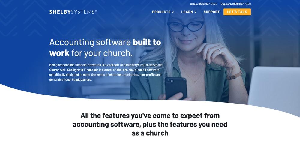 ShelbyNext Financials Church Software