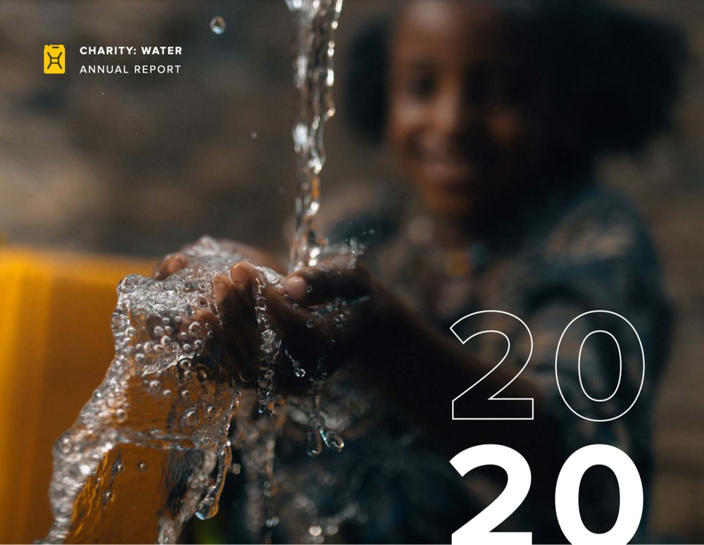 Charity Water annual report example