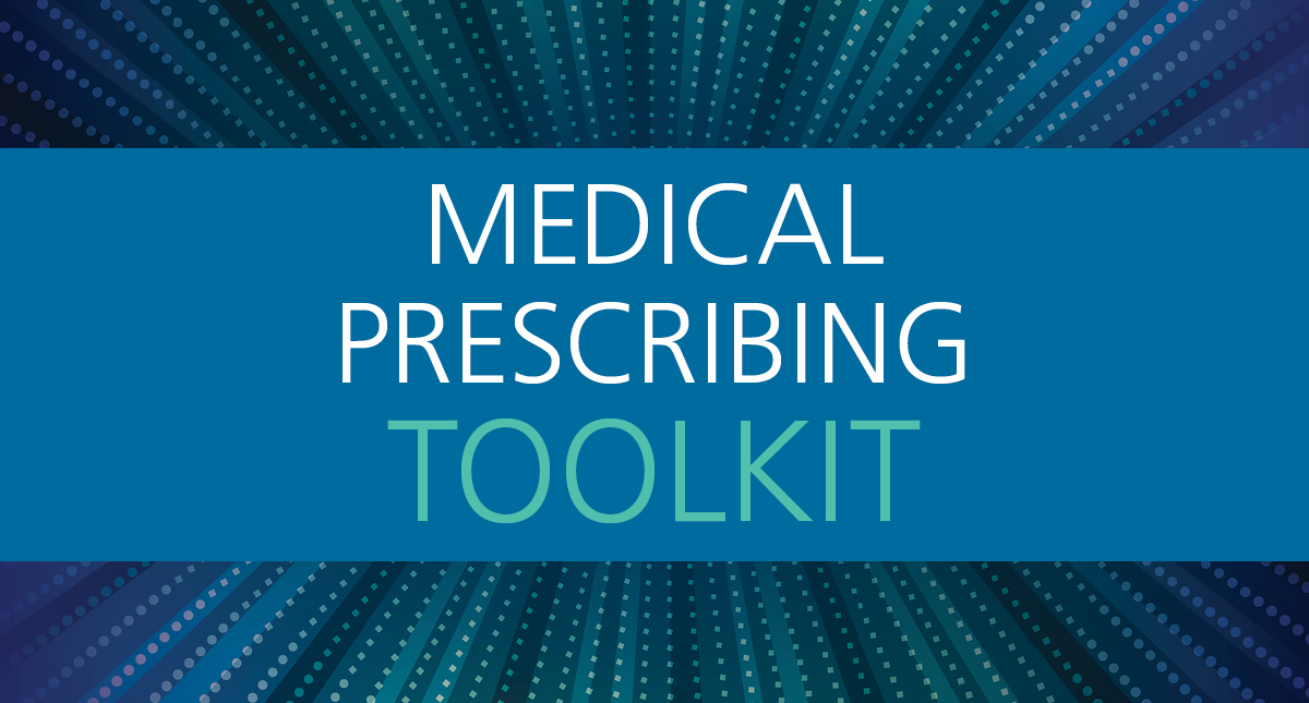 Medical Prescribing Toolkit in blue letters.