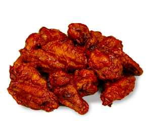 Delicious traditional spicy chicken wings.