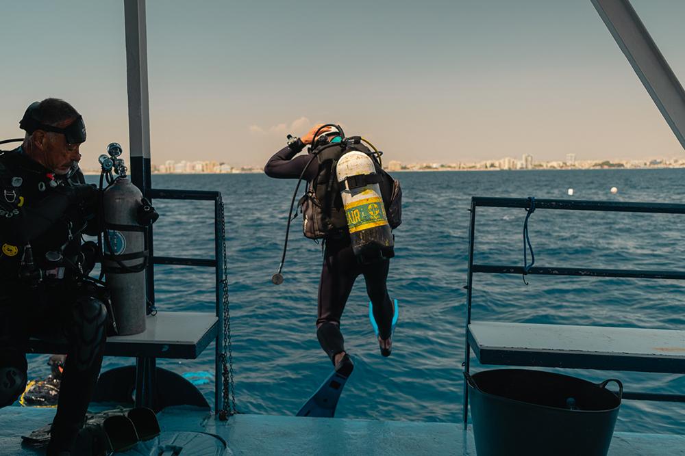 Kalliopi Dive college Zenobia Shipwreck Diving - on the way to Zenobia Shipwreck