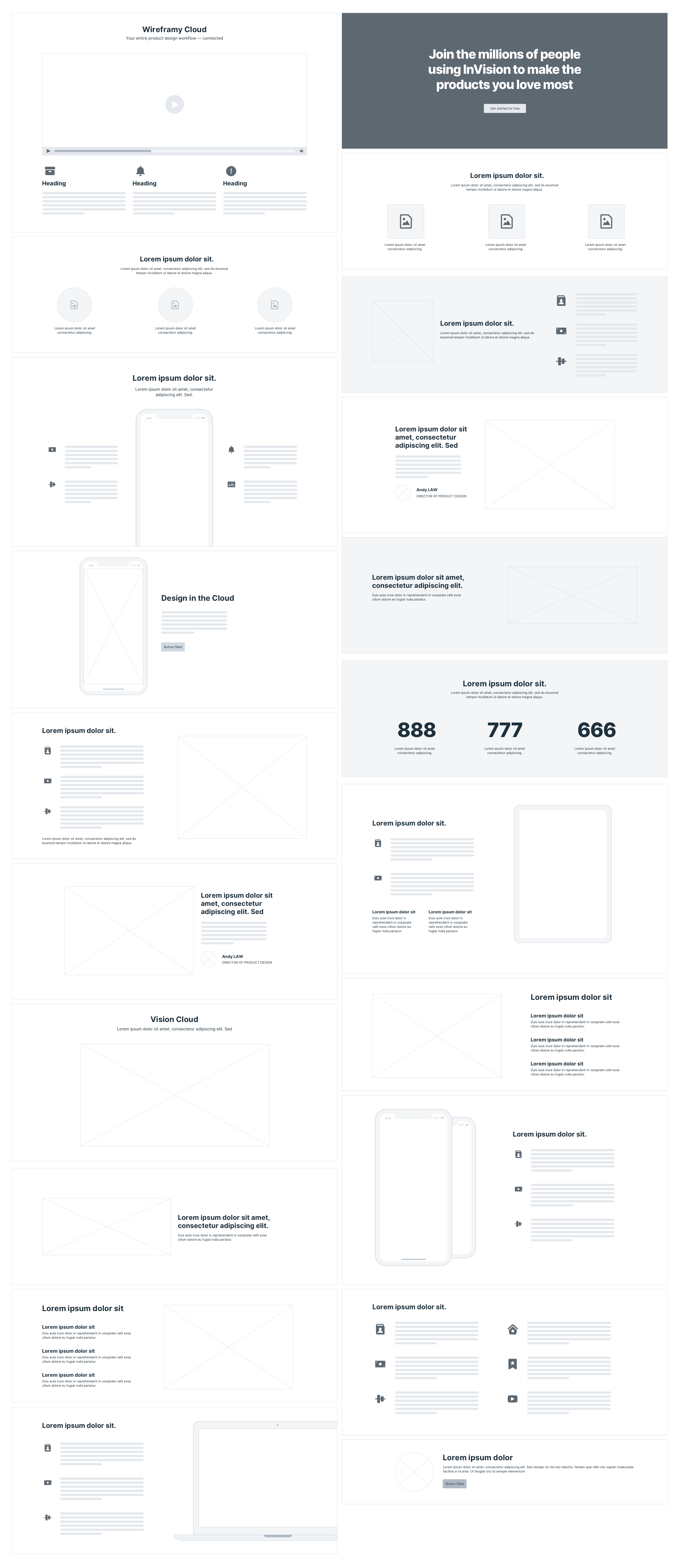 Wireframy Layout - Features
