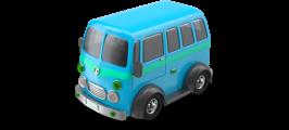 blue bus image