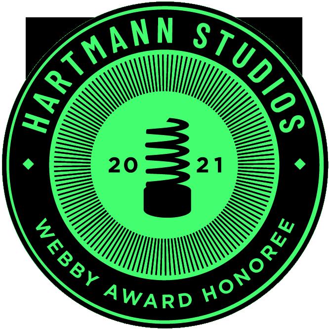2021 Webby Award Honoree, Hartmann Studios