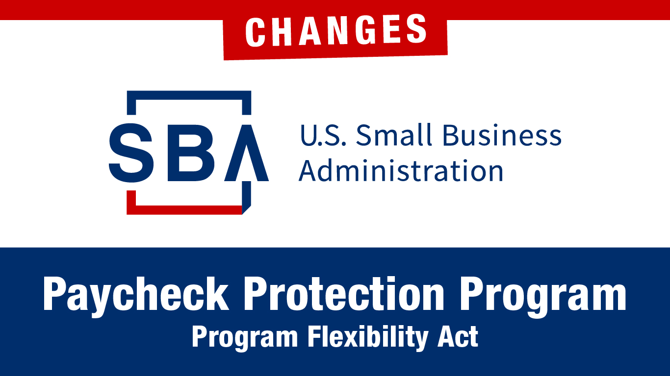 PPP Loan Changes:  Paycheck Protection Program Flexibility Act