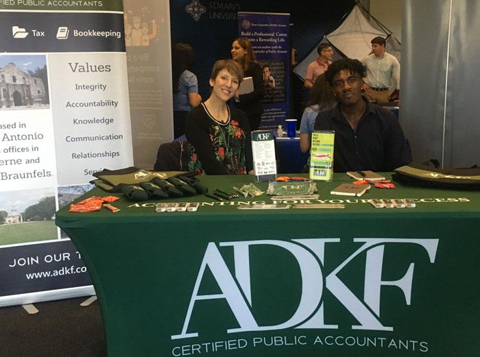 ADKF Recruits at St. Mary's University Meet-the-Firms Career Fair