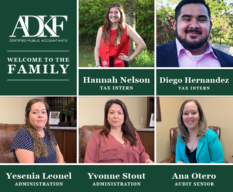Welcome Hannah, Diego, Yesenia, Yvonne, and Ana!